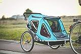 Aurotek Yogui Twin Remolque Bici para Niños, de Dos Plazas, de Aluminio con...