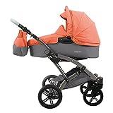 Knorr-baby 3200-03 Voletto Happy Colour - Carrito convertible, color gris y naranja